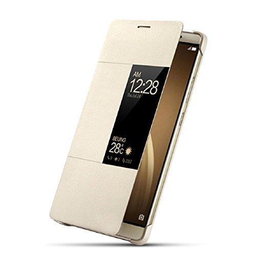 for-huawei-p9malloom-luxury-smart-window-sleep-wake-up-flip-pu-leather-case-cover-gold-