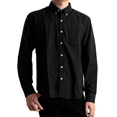 (ラフタス)Rafftas オーガニックコットン 無地 ボタンダウンシャツ シャツ M サイズ ブラック 秋 冬 秋冬用 シャツ 高品質 メンズ mens