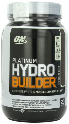 Optimum Nutrition  Platinum Hydro Builder, Chocolate Shake, 2.29-Pound Jar