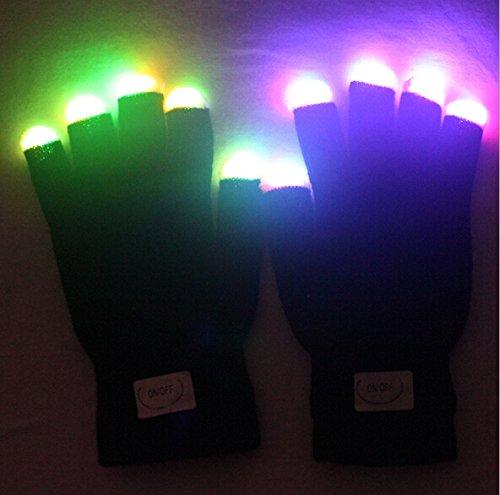 Flashing Finger Lighting Gloves LED Colorful Rave Gloves