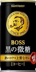 サントリー コーヒー ボス 黒の微糖 185g×30本