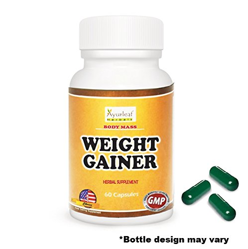 Ayurleaf Weight Gainer - Weight Gain Formula Men or Women. Gain weight pills (60) tablets. Appetite Enhancer. Fast Weight Gainer. Skinny people gain curves or body mass. (1) Bottle (Cb 1 Weight Gainer Pills compare prices)