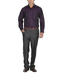 LAGNESH Men's Long Sleeve Shirt (Purple, 40)