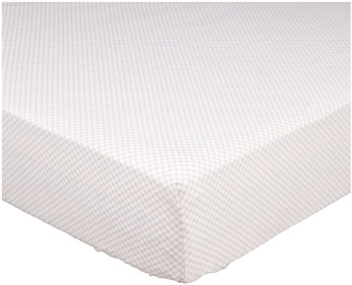 DwellStudio Baby Check Fitted Crib Sheet, Blossom (Discontinued by Manufacturer)