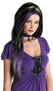 Rebel Witch Wig Black/Purple/Green Rebel Witch Wig Black/Purple/Green