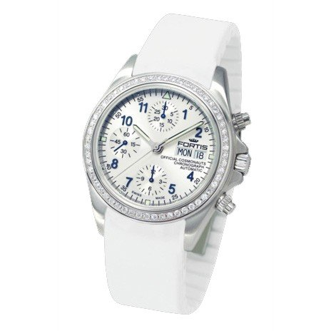 Fortis ladies watch Official Cosmonauts chronograph Diamond automatic 630.14.92 Si02