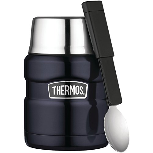 Thermos Stainless King 16-Ounce Food Jar, Midnight Blue