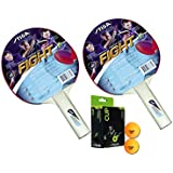 Stiga Fight Table Tennis Racket And Stiga Cup Table Tennis Balls- TT Kit