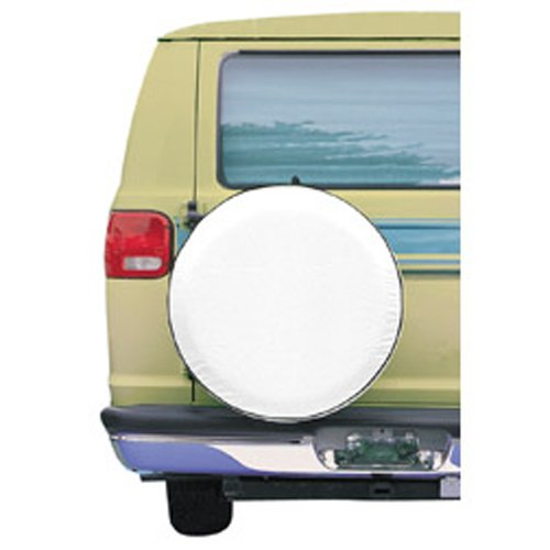 Classic Accessories 75170 Snow White Custom Fit Spare Tire Cover, Fits wheel diameter 31