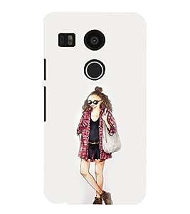EPICCASE Fashion Girl Mobile Back Case Cover For LG Google Nexus 5X (Designer Case)
