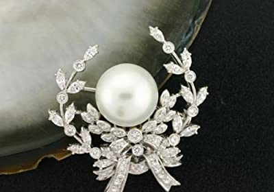 South Sea Pearl Brooch Pin - Black