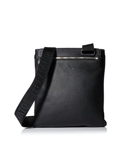 Salvatore Ferragamo Men's Manhattan Slim Small Messenger Bag, Nero