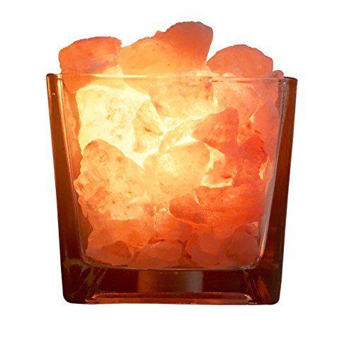 Nomads Himalayan Salt Lamp,Salt Rocks in a Decorative Glass Bowl,Natural Air Purifier and Oil Diffuser (Square Bowl) (Air Purifier Bowl compare prices)