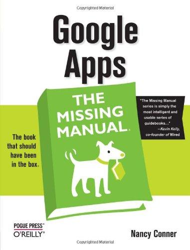 google apps the missing manual  paperback Excel Manual Espanol Windows Excel Manual