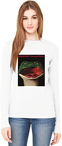 Uriah Heep Innocent Victim Album Cover T-Shirt da Donna a Maniche Lunghe Long-Sleeve T-shirt For Women| 100% Premium Cotton Ultimate Comfort Small