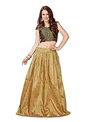 Treadindia Golden Designer Lehenga Cholis