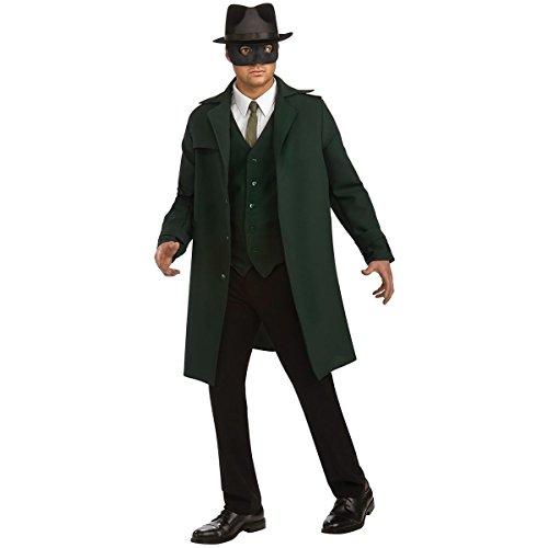 [GSG Deluxe The Green Hornet Adult Mens Hero Halloween Costume] (The Green Hornet Costume)