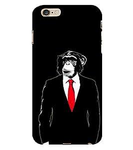 Fiobs Monkey Tuxedo Bond Coat Phone Back Case Cover for Apple iPhone 6s