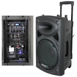 enceintes satellites ibiza port12vhf bt sonorisation portable 12 39 39 usb sd aux mp3 bluetooth noir. Black Bedroom Furniture Sets. Home Design Ideas