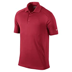 Nike Golf 2014 Dri-FIT Victory Polo Gym Red/White Small