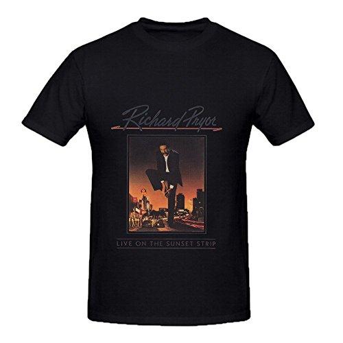 Richard Pryor Live On The Sunset Strip Pop Men O Neck Art Shirts Black (Ford Tech Shirt compare prices)