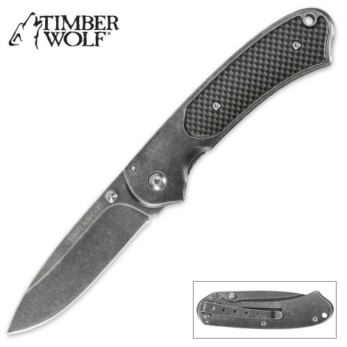 Timber Wolf Elite Stonewash Pocket Knife