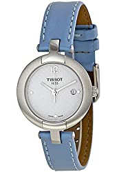 Tissot T-Trend White Dial Blue Leather Woman's Watch T0842101601702