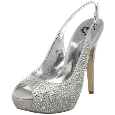 silver prom sandal