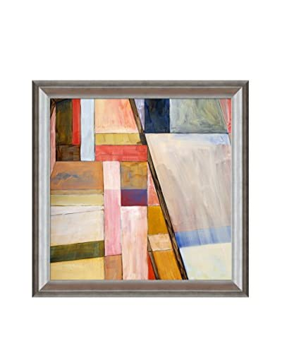 Clive Watts Geometric Abstract Painting Framed Print On Canvas, Multi, 29 x 29