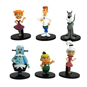 """Hanna Barbera The Jetsons Collector 2"""" Action Figure, 6-Pack"""