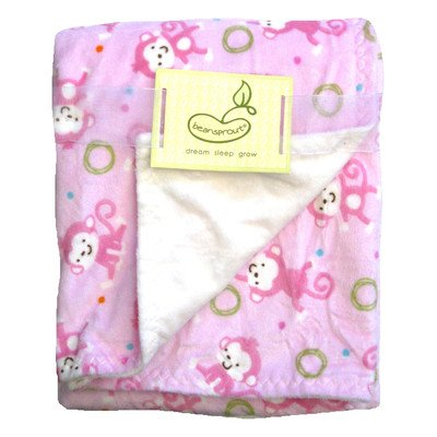 Monkey Toss Crib Throw Color: Pink - 1