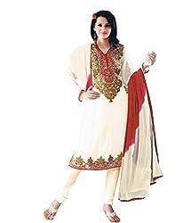 Khazana Women's Unstitched Dress Material (khazana-25-sb-1020_White_Free Size)