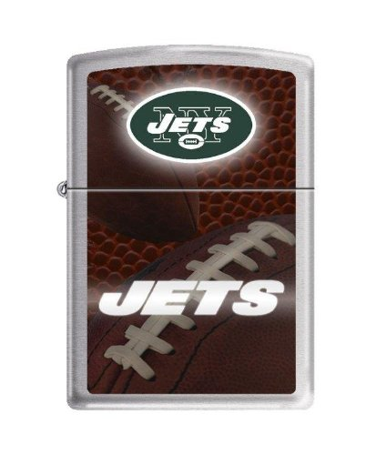 "Zippo ""New York Jets"" NFL Logo Brushed Chrome Lighter, 2552 at Amazon.com"