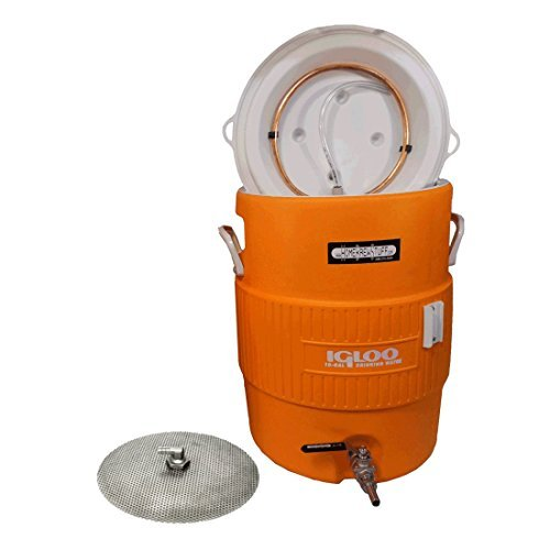 HomeBrewStuff 5 Gallon Cooler Mash Tun w/ Stainless Steel False Bottom and Valve by Home Brew Stuff (Home Brew Cooler compare prices)