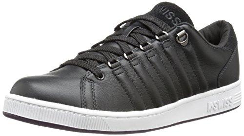 K-Swiss Men's Lozan III Lace-Up Fashion Sneaker,Jet/Black/White/Plum Perfect,11 M US