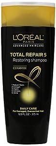 L'Oreal Paris Advanced Haircare Total Repair 5 Restoring Shampoo, 12.6 fl oz