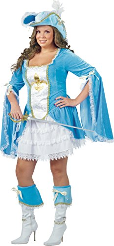 Morris Costumes Madam Musketeer 16W-20W