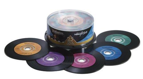 Verbatim Digital Vinyl 700 MB Multicolor CD-R Spindle (25 Discs)
