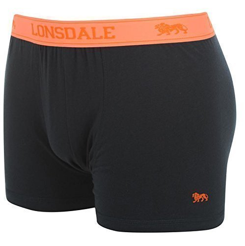 Lonsdale Men's Boxer Shorts, Pack of 2 ohne Eingriff | Navy / Fluo Orange Size:4XL