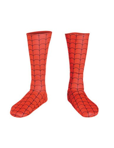 Costume-Footwear Spider Man Deluxe Boot Covers Halloween Costume - 1 size