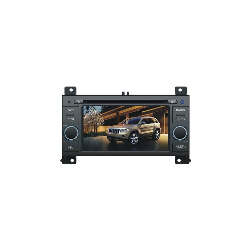 In Dash Car DVD Player GPS Radio System For Jeep Grand Cherokee 2011