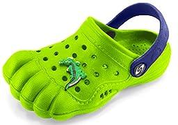 Kids Baby Little Kids Toddler Five Finger Clogs Summer Shoes (Toddler 6, Lime Green)