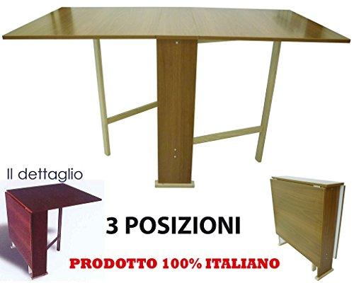 Tavolo tavolino in legno marrone per casa cucina for Tavolo cucina richiudibile