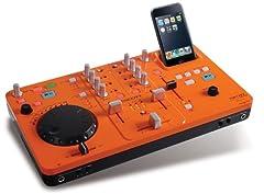 Scott DJX 10i DJ-Mischpult (2-Kanal-Mixer, Dock und Ladegerät, USB 2.0) für Apple iPod orange ab 69,90 Euro inkl. Versand