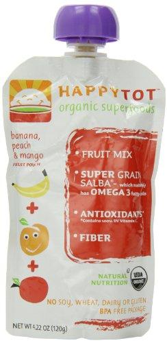 Happy Baby happy tot Banana, Mango & Peach - 8 pk