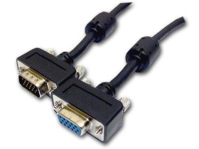 25Ft Ultra-Slim Micro Super VGA - HD15 Male to Female Monito