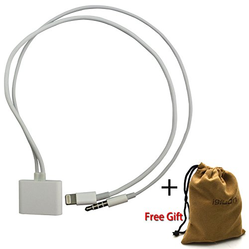Igloon(Tm) 3.5Mm 8 Pin To 30 Pin Converter Audio Adapter For Iphone 5 5S 5C / Ipod Touch 7 / Ipad Mini 1St, 2Nd Gen / Ipad 4 / Ipad Air (White)