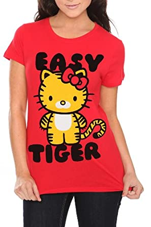 Hello Kitty Easy Tiger Girls T Shirt Size X