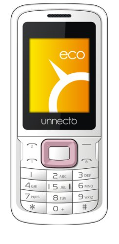Unnecto U-100-2NA eco - Unlocked Phone - Retail Packaging - US Warranty - White/Pink