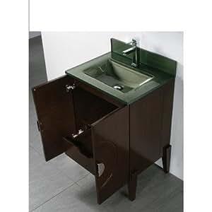Tempered glass countertop bathroom sink sink finish forest green bathroom vanities for Tempered glass bathroom countertop